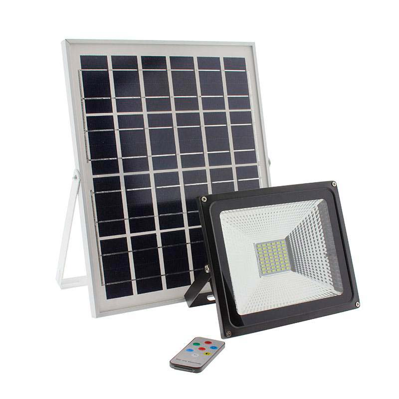 Proyector LED SOLAR 30W, Blanco frío, Regulable